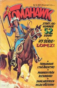 Cover for Tomahawk (Semic, 1976 series) #13/1977
