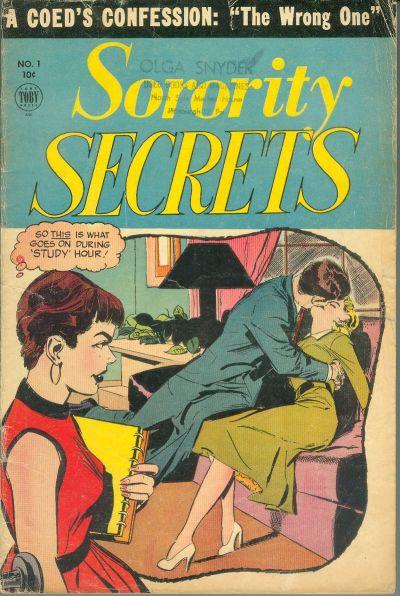 Cover for Sorority Secrets (Toby, 1954 series) #1