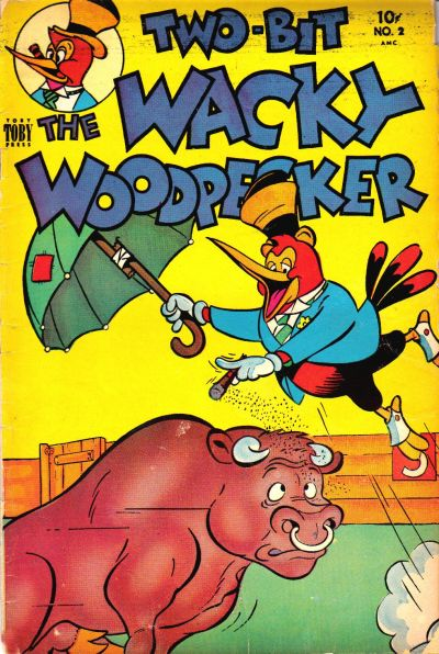 Cover for Two-Bit the Wacky Woodpecker (Toby, 1951 series) #2