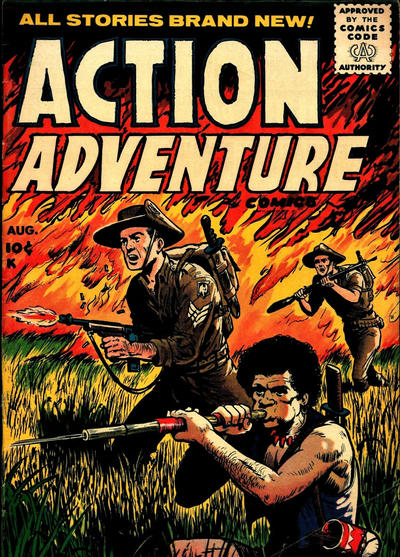 Cover for Action Adventure Comics (Stanley Morse, 1955 series) #3
