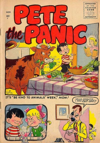 Cover for Pete the Panic (Stanley Morse, 1955 series)