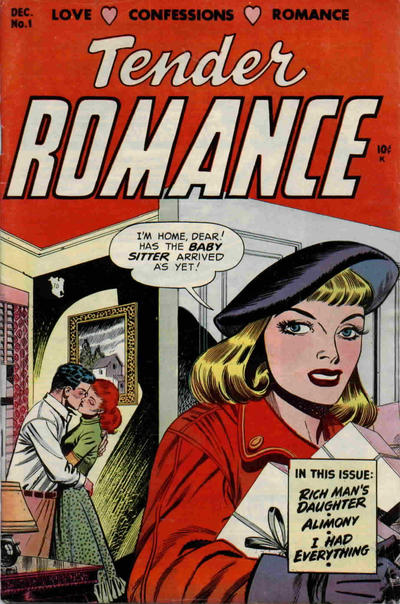 Cover for Tender Romance (Stanley Morse, 1953 series) #1