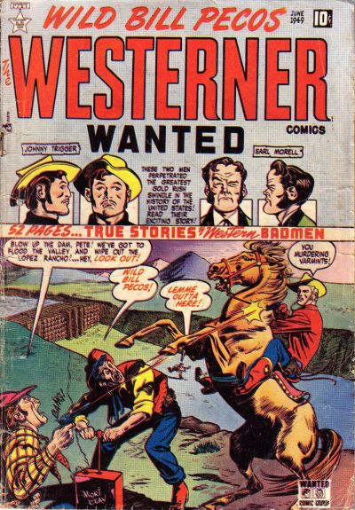 Cover for The Westerner Comics (Orbit-Wanted, 1948 series) #21