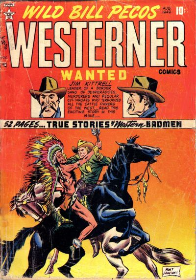Cover for The Westerner Comics (Orbit-Wanted, 1948 series) #22