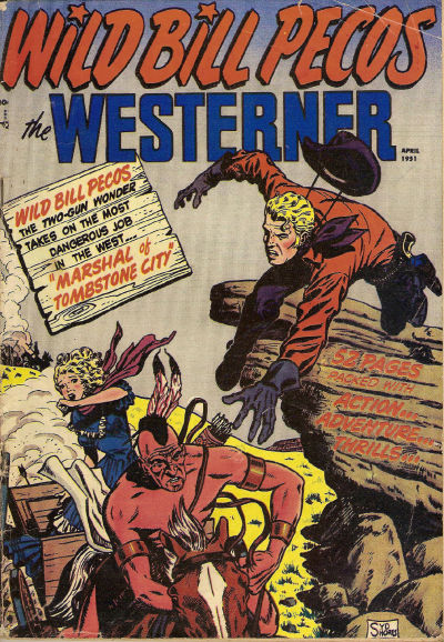 Cover for The Westerner Comics (Orbit-Wanted, 1948 series) #35
