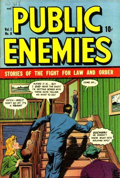 Cover for Public Enemies (D.S. Publishing, 1948 series) #v1#8