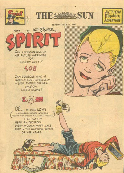 Cover for The Spirit (Register and Tribune Syndicate, 1940 series) #5/18/1947