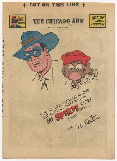 Cover for The Spirit (Register and Tribune Syndicate, 1940 series) #6/8/1947