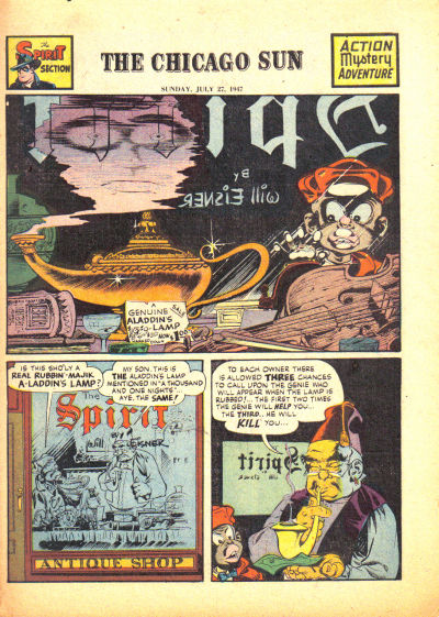 Cover for The Spirit (Register and Tribune Syndicate, 1940 series) #7/27/1947
