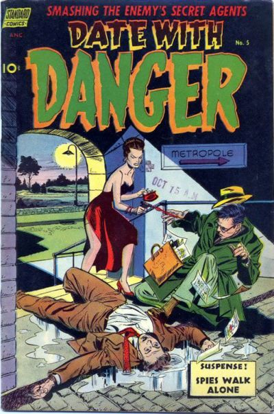 Cover for Date with Danger (Pines, 1952 series) #5