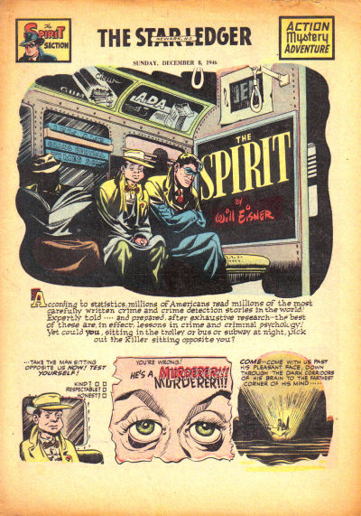 Cover for The Spirit (Register and Tribune Syndicate, 1940 series) #12/8/1946