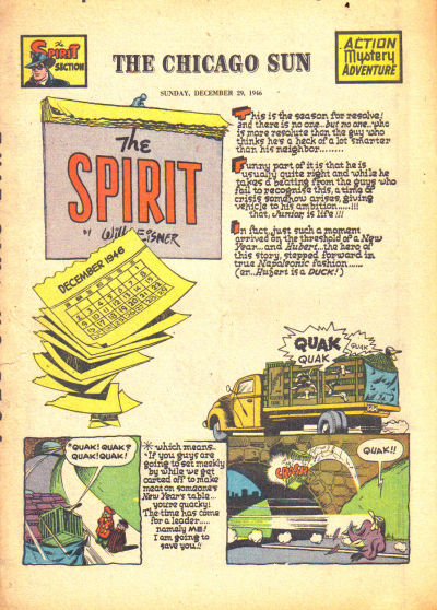 Cover for The Spirit (Register and Tribune Syndicate, 1940 series) #12/29/1946