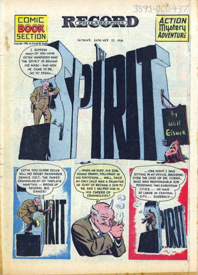 Cover for The Spirit (Register and Tribune Syndicate, 1940 series) #1/13/1946