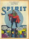 Cover for The Spirit (Register and Tribune Syndicate, 1940 series) #1/21/1945