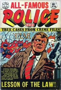 Cover Thumbnail for All-Famous Police Cases (Star Publications, 1952 series) #16
