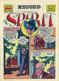 Cover Thumbnail for The Spirit (Register and Tribune Syndicate, 1940 series) #10/21/1945