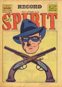 Cover Thumbnail for The Spirit (Register and Tribune Syndicate, 1940 series) #9/23/1945