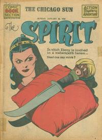 Cover Thumbnail for The Spirit (Register and Tribune Syndicate, 1940 series) #1/28/1945