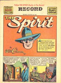 Cover Thumbnail for The Spirit (Register and Tribune Syndicate, 1940 series) #3/28/1943