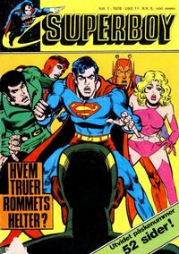Cover Thumbnail for Superboy (Semic, 1977 series) #1/1978