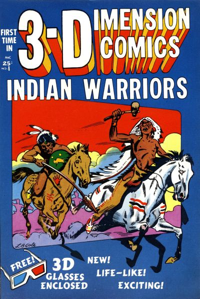 Cover for Indian Warriors 3-D (Star Publications, 1953 series) #1