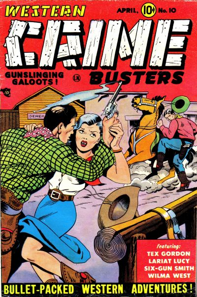 Cover for Western Crime Busters (Trojan Magazines, 1950 series) #10