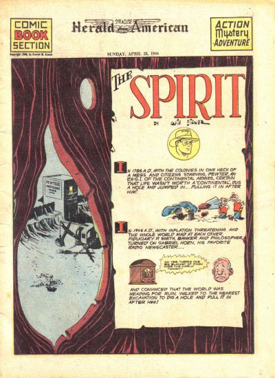 Cover for The Spirit (Register and Tribune Syndicate, 1940 series) #4/28/1946