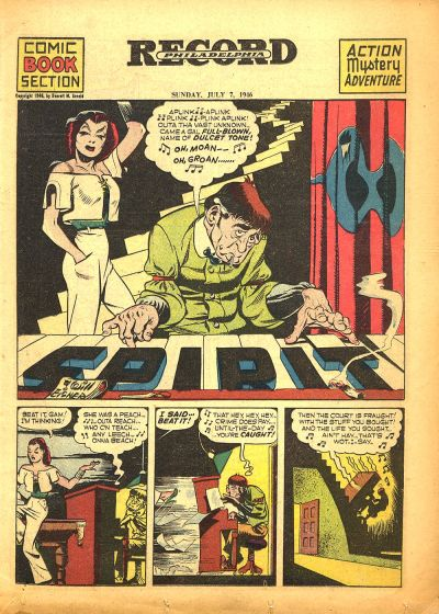 Cover for The Spirit (Register and Tribune Syndicate, 1940 series) #7/7/1946
