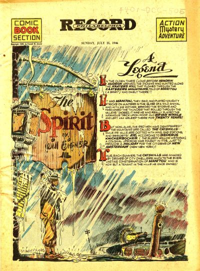 Cover for The Spirit (Register and Tribune Syndicate, 1940 series) #7/21/1946