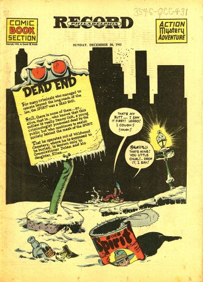 Cover for The Spirit (Register and Tribune Syndicate, 1940 series) #12/30/1945
