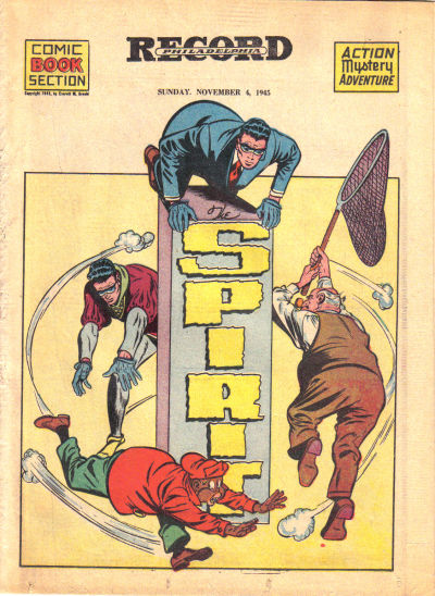 Cover for The Spirit (Register and Tribune Syndicate, 1940 series) #11/4/1945