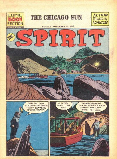 Cover for The Spirit (Register and Tribune Syndicate, 1940 series) #11/11/1945