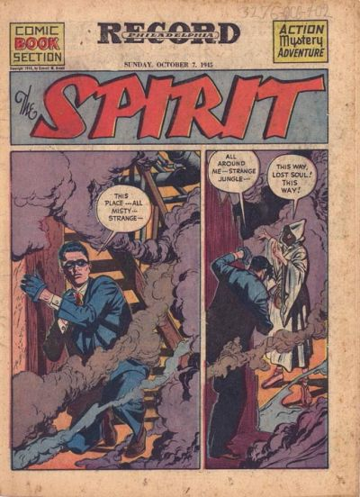 Cover for The Spirit (Register and Tribune Syndicate, 1940 series) #10/7/1945
