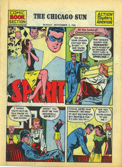 Cover for The Spirit (Register and Tribune Syndicate, 1940 series) #9/2/1945