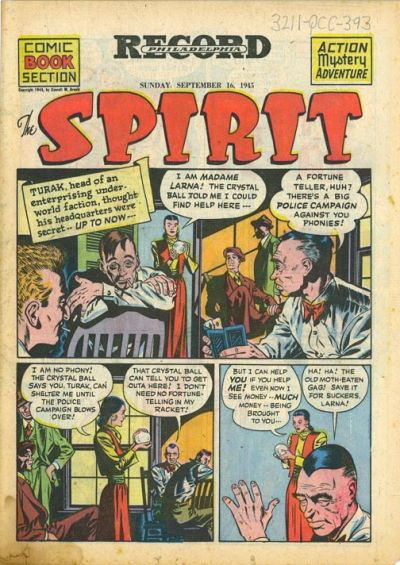 Cover for The Spirit (Register and Tribune Syndicate, 1940 series) #9/16/1945