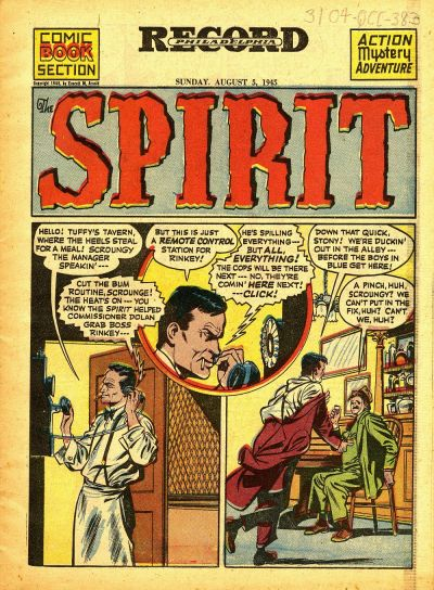 Cover for The Spirit (Register and Tribune Syndicate, 1940 series) #8/5/1945