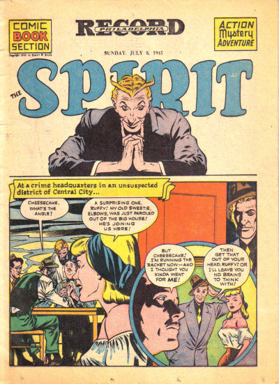 Cover for The Spirit (Register and Tribune Syndicate, 1940 series) #7/8/1945