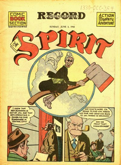 Cover for The Spirit (Register and Tribune Syndicate, 1940 series) #6/3/1945