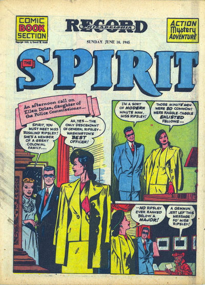 Cover for The Spirit (Register and Tribune Syndicate, 1940 series) #6/10/1945