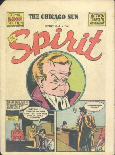 Cover for The Spirit (Register and Tribune Syndicate, 1940 series) #5/6/1945