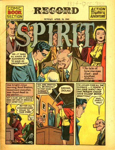 Cover for The Spirit (Register and Tribune Syndicate, 1940 series) #4/15/1945