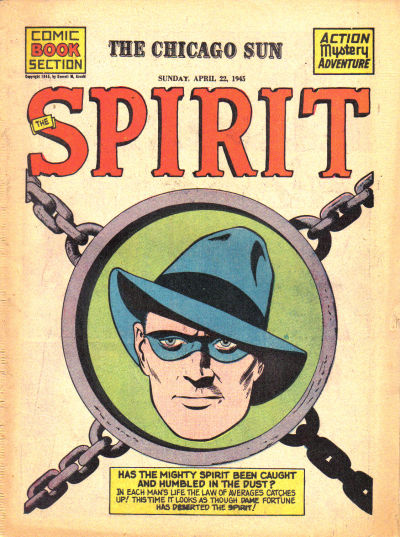 Cover for The Spirit (Register and Tribune Syndicate, 1940 series) #4/22/1945