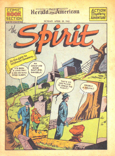 Cover for The Spirit (Register and Tribune Syndicate, 1940 series) #4/29/1945