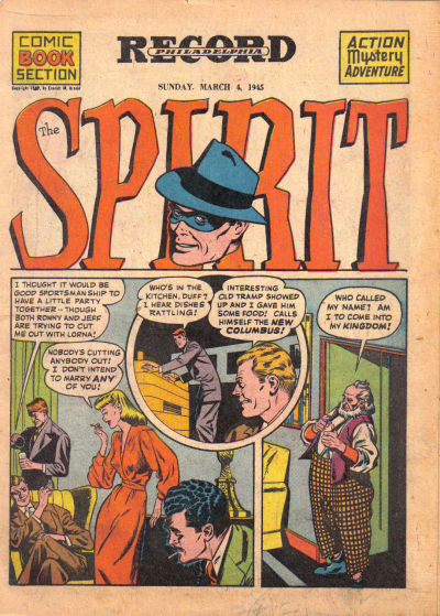 Cover for The Spirit (Register and Tribune Syndicate, 1940 series) #3/4/1945