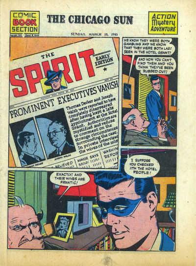 Cover for The Spirit (Register and Tribune Syndicate, 1940 series) #3/18/1945
