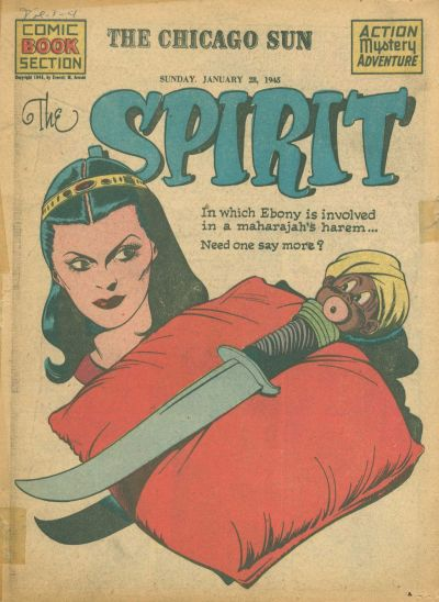 Cover for The Spirit (Register and Tribune Syndicate, 1940 series) #1/28/1945
