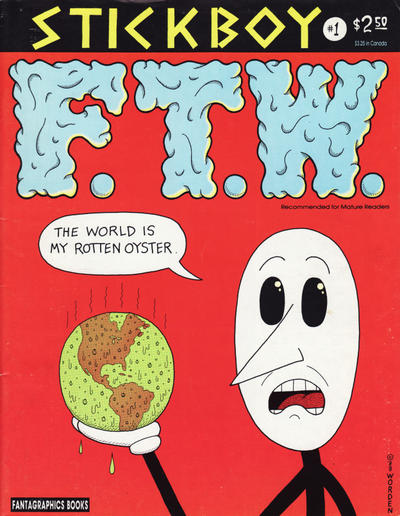 Cover for Stickboy (Fantagraphics, 1988 series) #1 [2nd print- 2.50 USD]