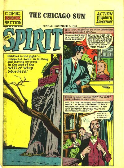 Cover for The Spirit (Register and Tribune Syndicate, 1940 series) #11/5/1944