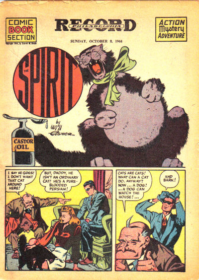 Cover for The Spirit (Register and Tribune Syndicate, 1940 series) #10/8/1944