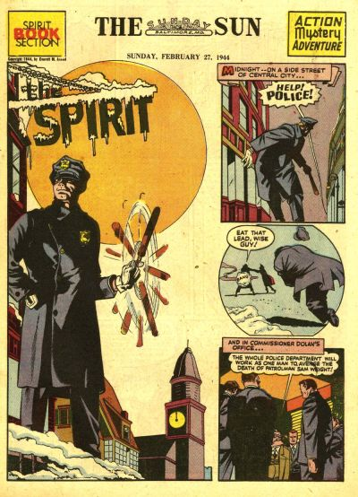 Cover for The Spirit (Register and Tribune Syndicate, 1940 series) #2/27/1944